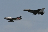 F-86 Sabre and F-16 Fighting Falcon
