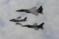 F-86 Sabre, F-15, and F-16